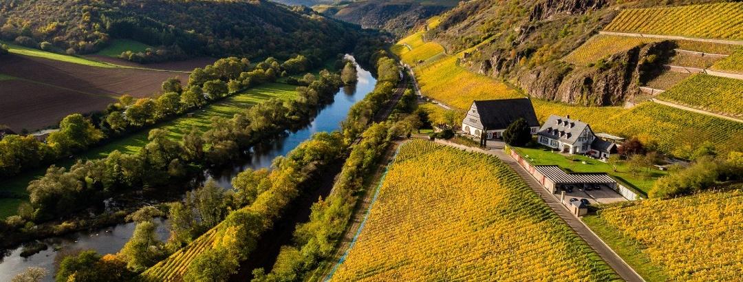 Herbstliche Landschaft an der Nahe