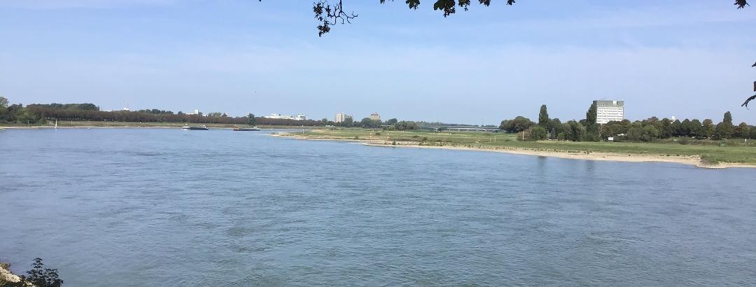 Schleifenroute - Blick auf den Rhein nach Neuss