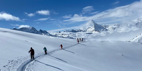 High above Zermatt and the clouds