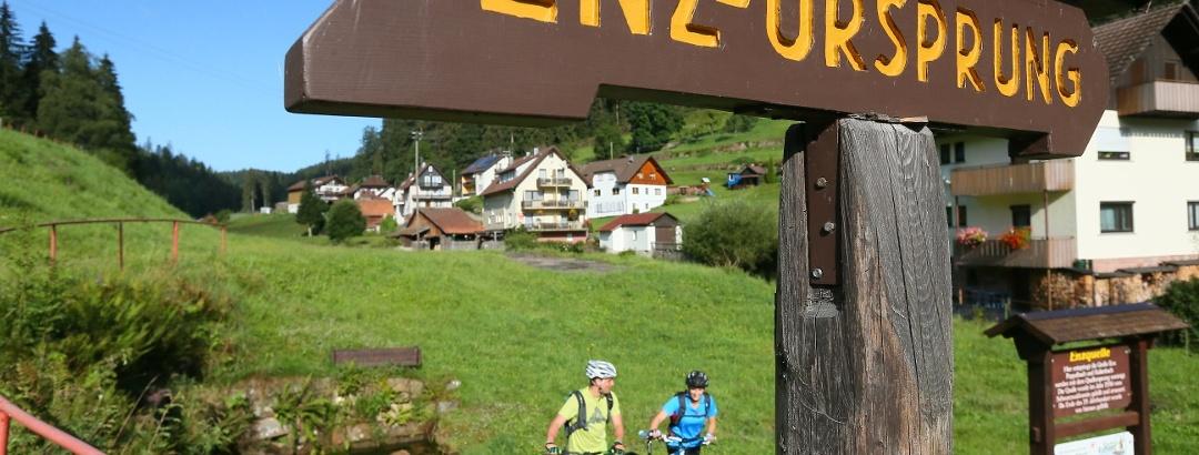 Start der Tour an der Enzquelle in Gompelscheuer
