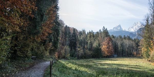 Der Königsseer Fußweg ist für Radfahrer freigegeben