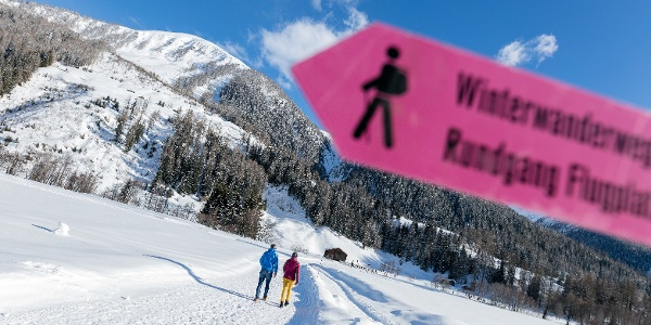 Well signposted winter hiking trails
