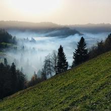Abfahrt vom Ahorn zur Fritzenfluh