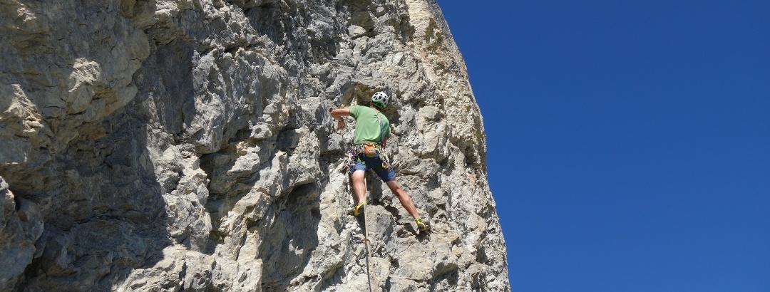 Alpine climbing in the Allgäu Alps