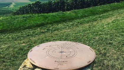 Kompass an der Hiwweltour Zornheim