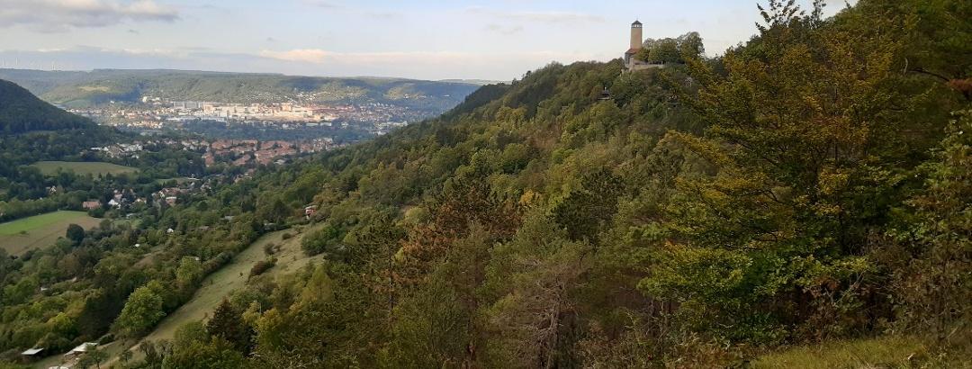 Blick von Ziehenhainer Höhe Richtung Fuchsturm