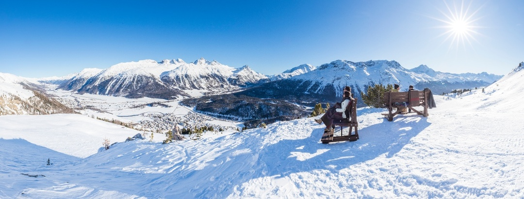 winter hiking trail Marguns-Chantarella