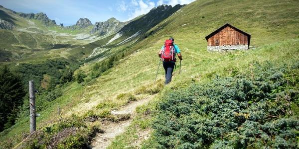 Wanderweg bei der oberen Röbialpe