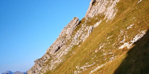 Der Hüttengrat, vom Wanderweg zum Aggenstein gesehen