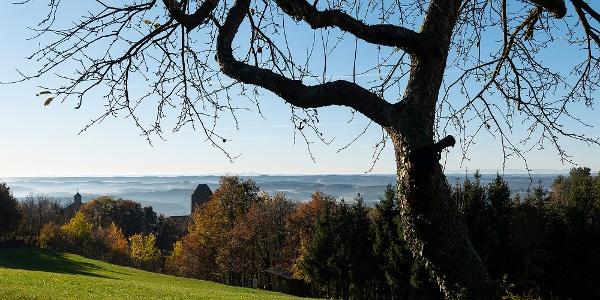 Ausblick von der  Hausberg-Sonnenseite