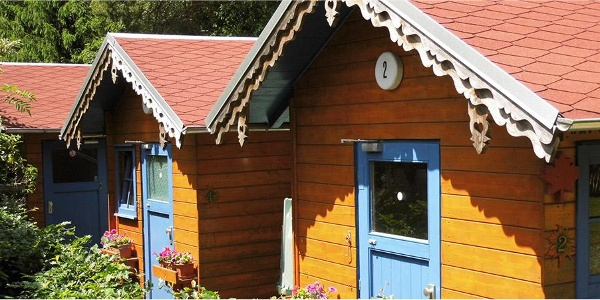 Campinghütte im Waldcamping Erzgebirge