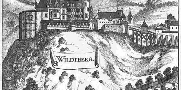Schloss/Ruine Wildberg, Stich Vischer