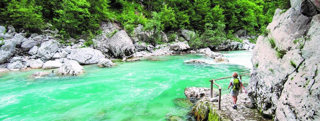 Trail by the Soča River, Trnovo ob Soči