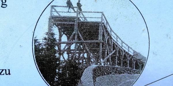 Historische Bobbahn - Infotafel