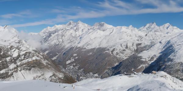 Aussicht auf Zermatt und das prächtige Panorama.