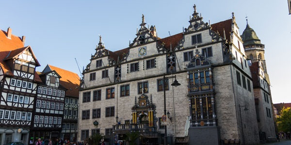 Weserrenaissance Rathaus Hann. Münden