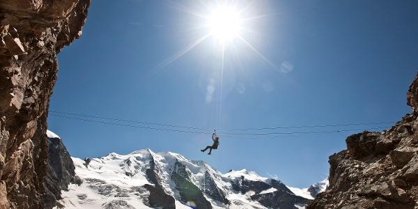Auf dem Klettersteig Piz Trovat 2