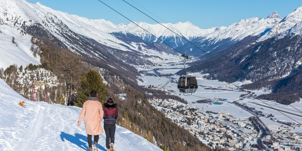 Winterwandern auf Corviglia