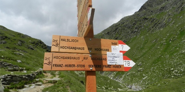 From Lodnerhütte Mountain hut up to the Franz Huber Trail
