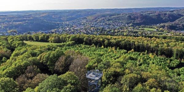 Aussichtspunkt Ottoturm oberhalb von Kirchen (Sieg)