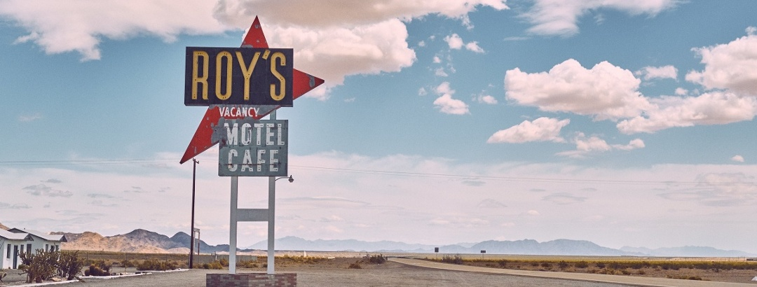 Roy's Motel, Nevada Desert.