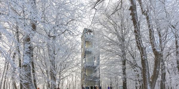 A Csóványosi-kilátó télen