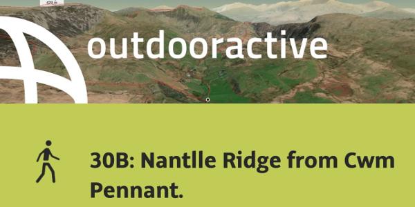 hike in Gwynedd: 30B: Nantlle Ridge from Cwm Pennant.