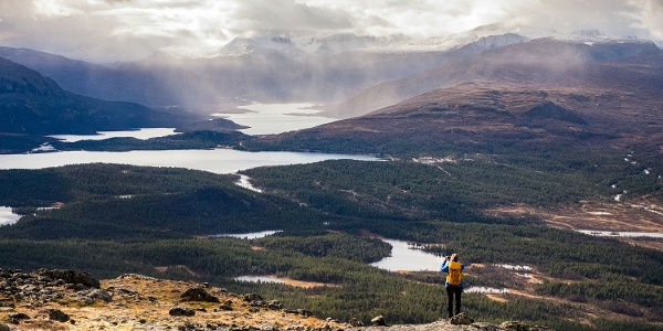 Perfect view over Jotunheimen from the top.