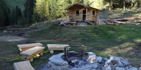 Feuerstelle im Zanderstal bei Samnaun