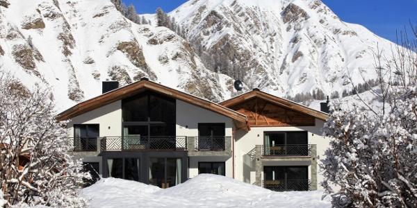 Engadin Lodge in Samnaun im Winter