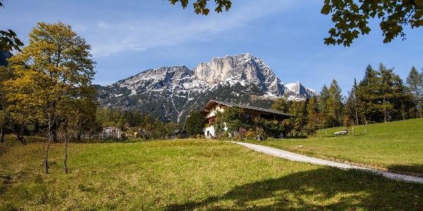Ausgangspunkt dert Untersbergrunde Hüttentour: Hintergern