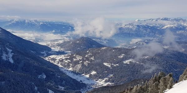 Panorama Richtung Pinè Hochebene