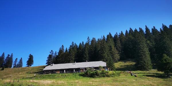 Hütte auf der Wetterinalm
