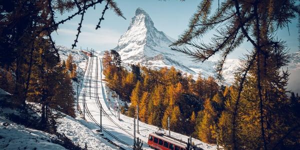 Gornergrat Bahn oberhalb Riffelalp