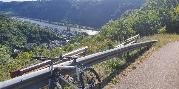 Blick auf Burgen an der Mosel vom Schinderhannes-Untermosel-Radweg