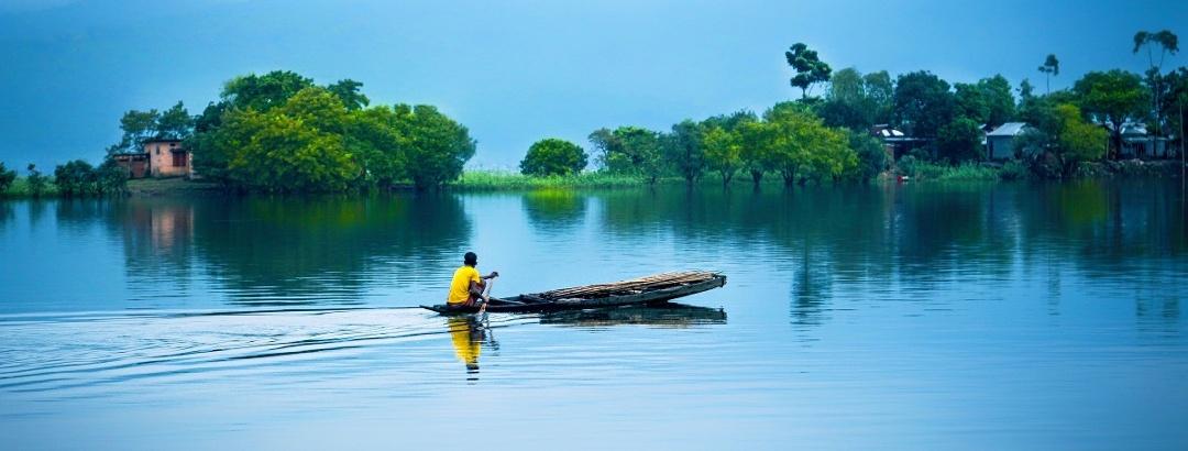 Water landscape in Bangladesh