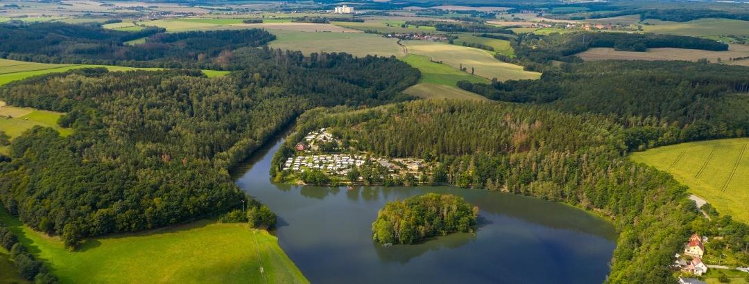 Aumatalsperre mit Naturcampingplatz