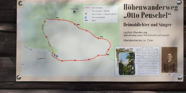 Tafel Rundwanderweg Otto Peuschel