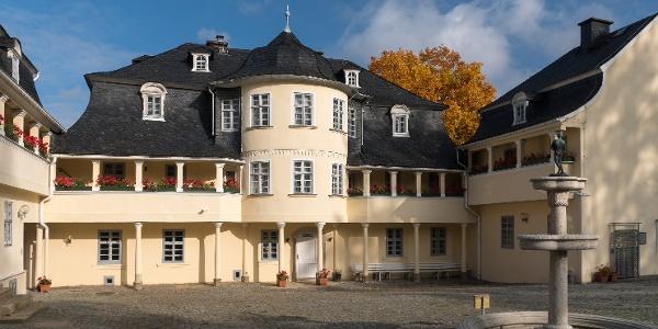 Außenansicht des Musikinstrumentenmuseum in Markneukirchen