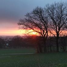 Sonnenuntergang am Ortsrand von Steinhagen