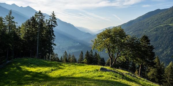 Blick vom Poschacher Richtung Obervellach/Danielsberg