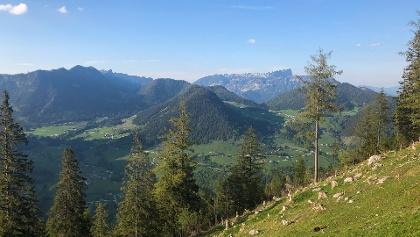 Blick von der Schärtenalm zum Untersberg