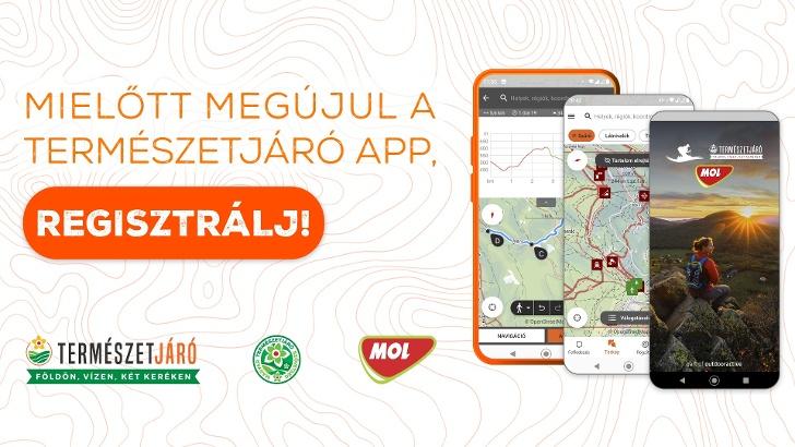 Fontos felhívás a Természetjáró app felhasználóinak