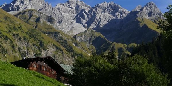 Trettachspitze, Mädelegabel und Hochfrottspitze von Einödsbach