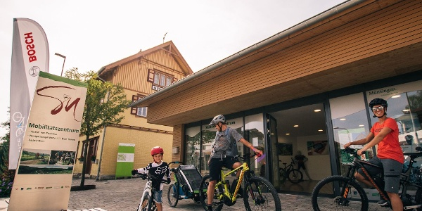 Start am Mobilitätszentrum Münsingen.
