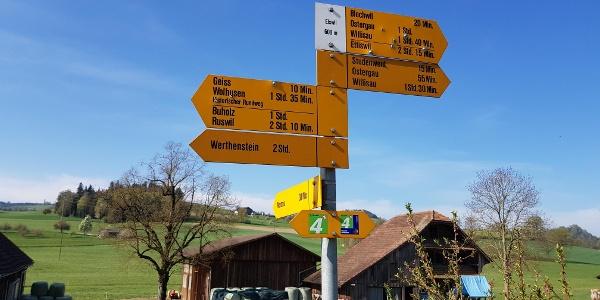 Der Weiler Elswil in der Nähe von Geiss