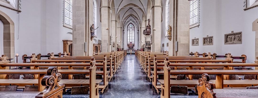 Blick in die Abteikirche