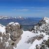 die Aussicht vom Alpspitz in Richtung Hoher Kasten