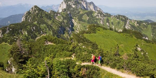 Aussichtsreich: Der Gratweg zur Benediktenwand.