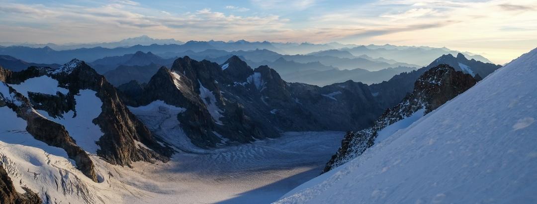 Bergpanorama Dauphiné, Barre des Ecrins für Profilhintergrund